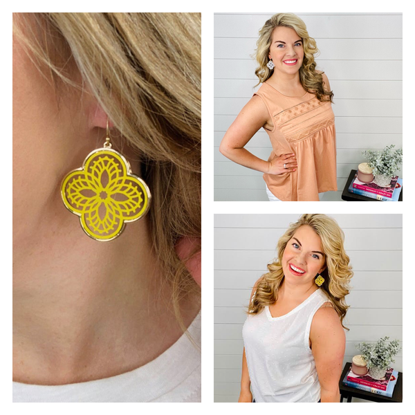 Sunlight Clover Earrings