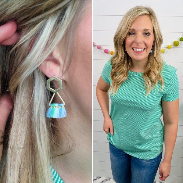 Tassel and Dazzle Earrings