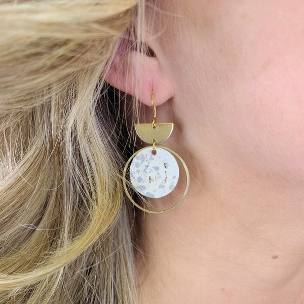 Golden Watercolor Earrings