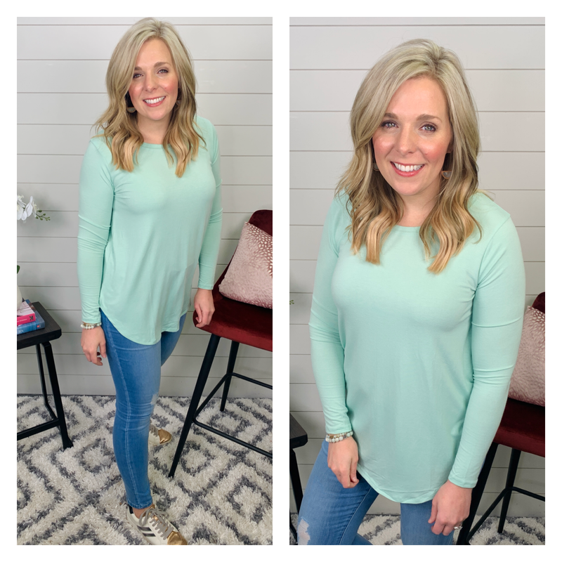 Jenny Long Sleeved Top - Mint