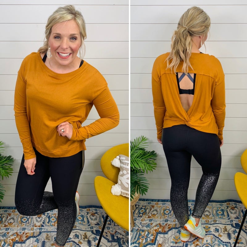 Twist and Cut-Workout Top *Final Sale*