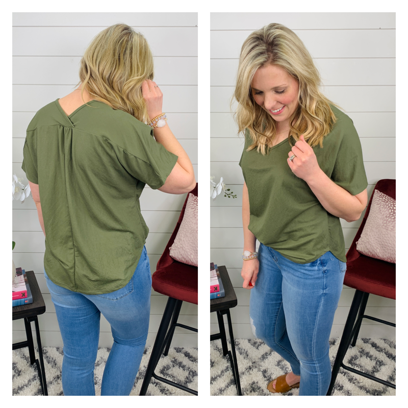 Willow Top - Olive Green