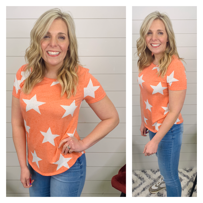 Creamsicle Star Shirt