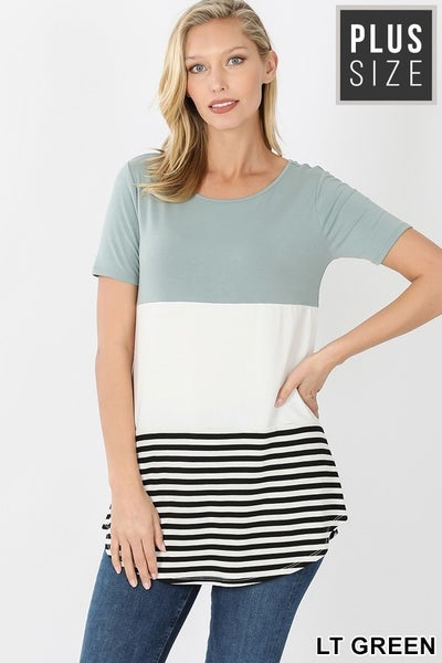 Curvy Colorblock Top