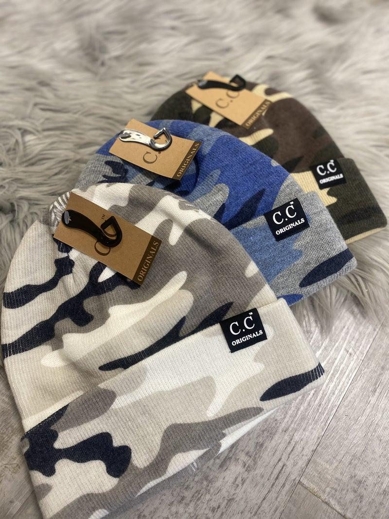 CC Knitted Camo Beanie