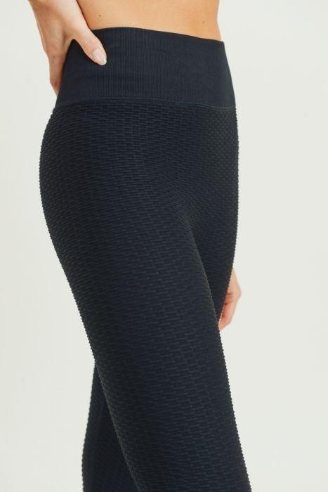 Ribbed Legging in Black by Mono B