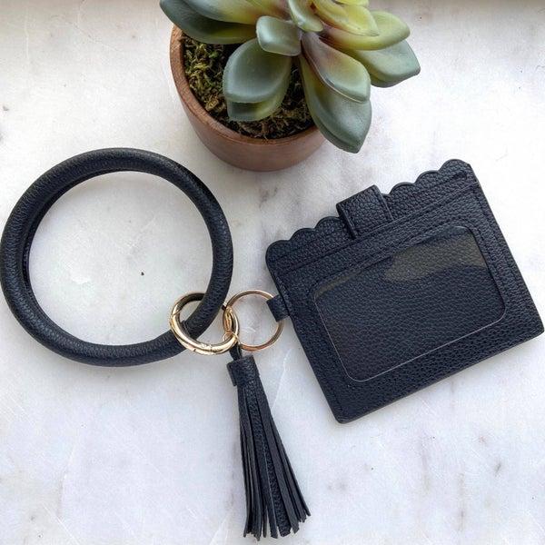 Keyring Cardholder in Black
