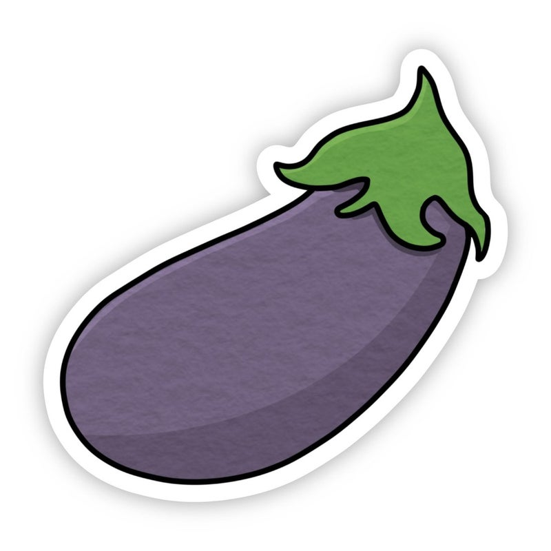 Eggplant Sticker