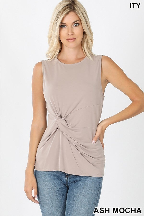 Cinch Knot Top in Black (All Sizes)