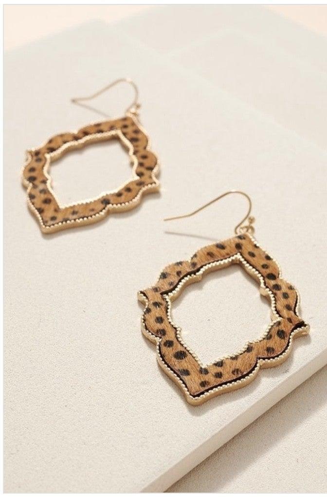 Cheetah Print Dangle Earring's