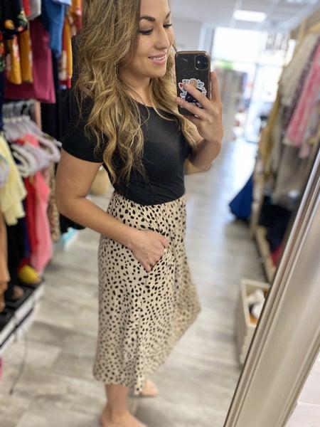 Lily Dalmation Midi Dress