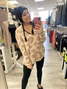 Chelsey Leopard Sweater *Final Sale*