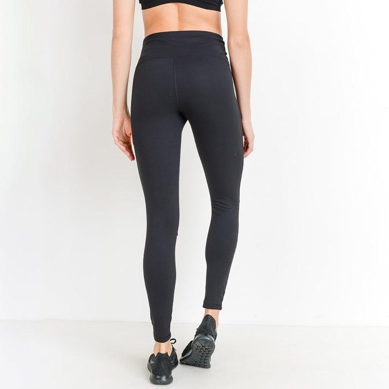 High-waist Shredded Knee Legging all Sizes by Mono B