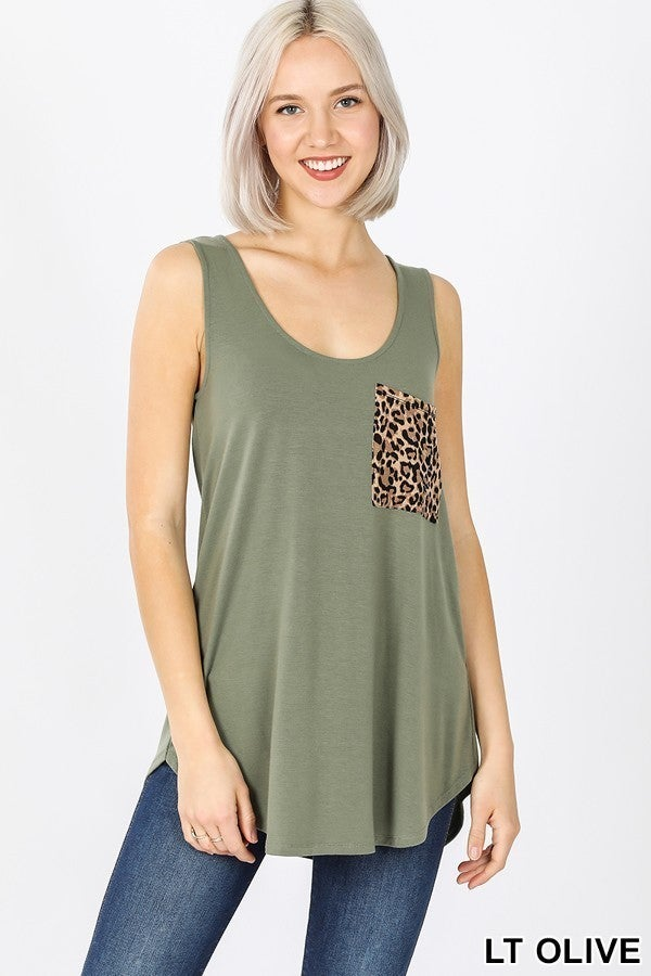 Leopard Pocket Tank