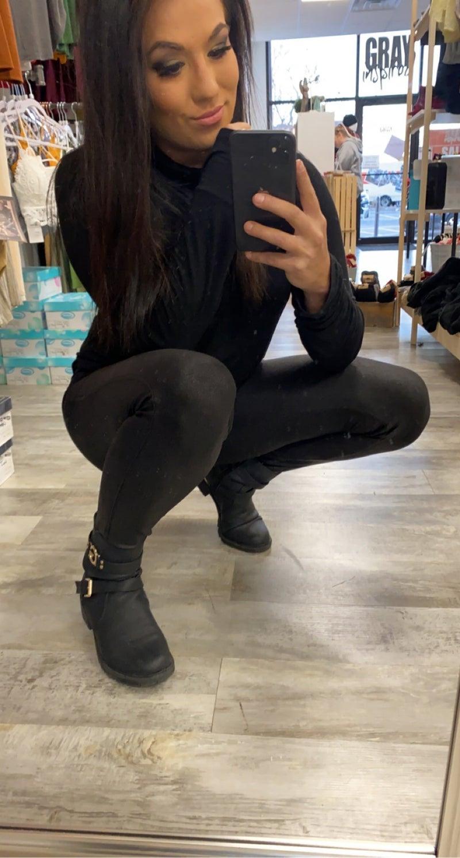 Matte Faux Legging