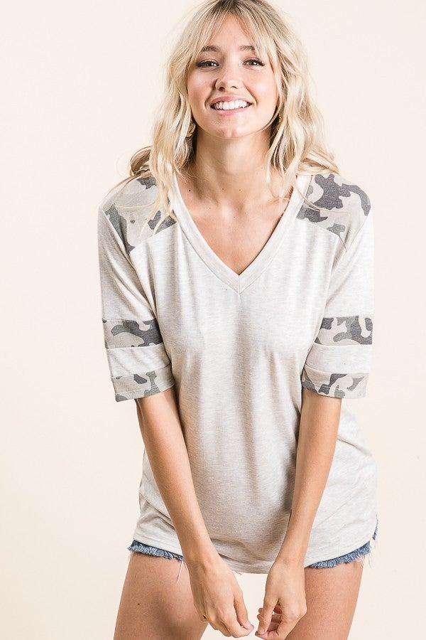 Touch of Camo Top