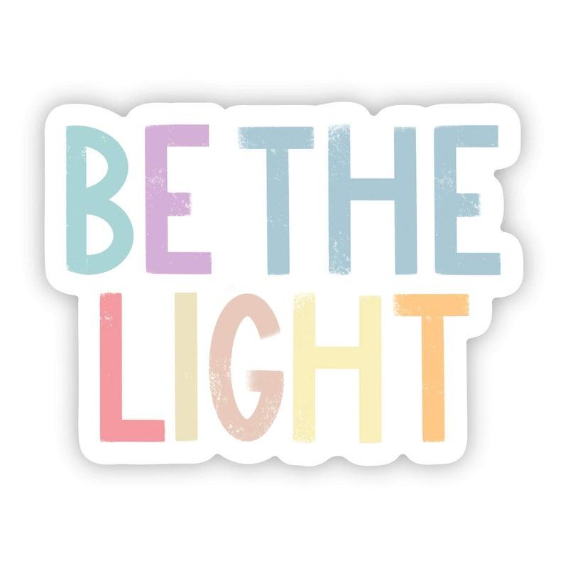 Be The Light Positivity Lettering Sticker
