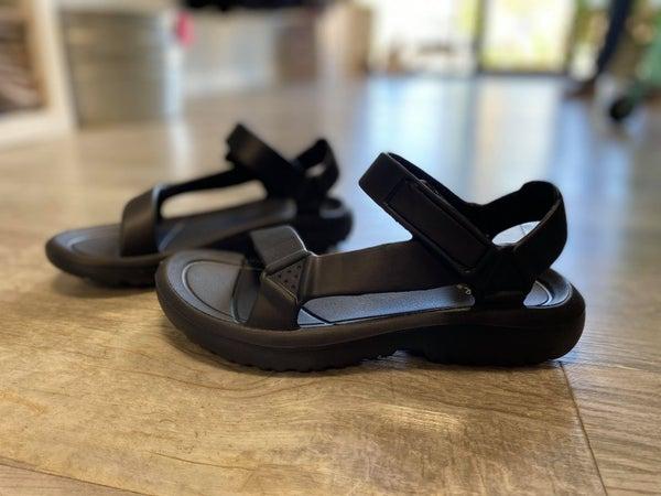 Black Walking Sandals by Quipid