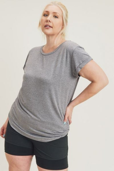 Basic Athleisure Curvy Top by Mono B