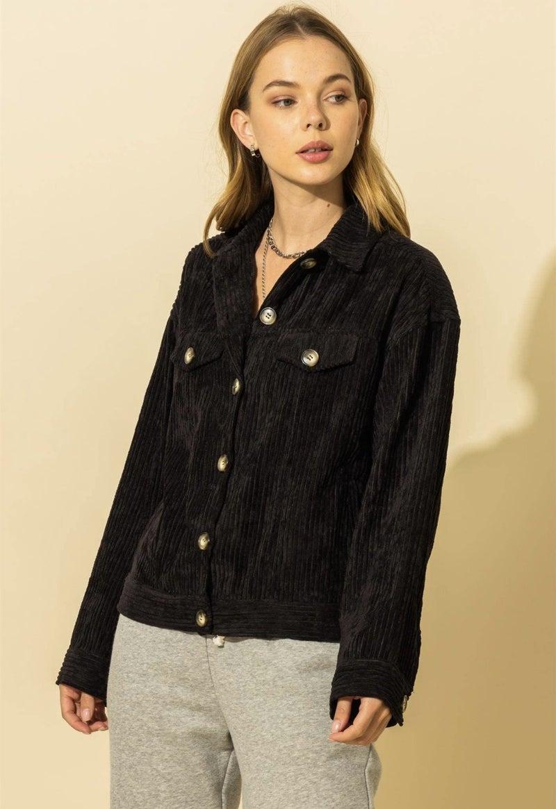 Corduroy Jacket in Camel or Black