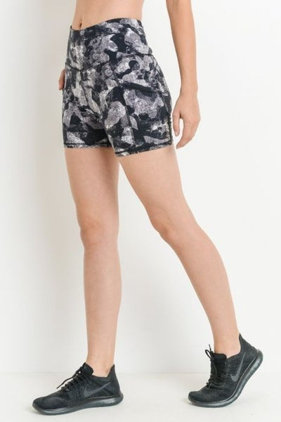 Tight Workout Shorts with High Waist Band by Mono B *Final Sale*