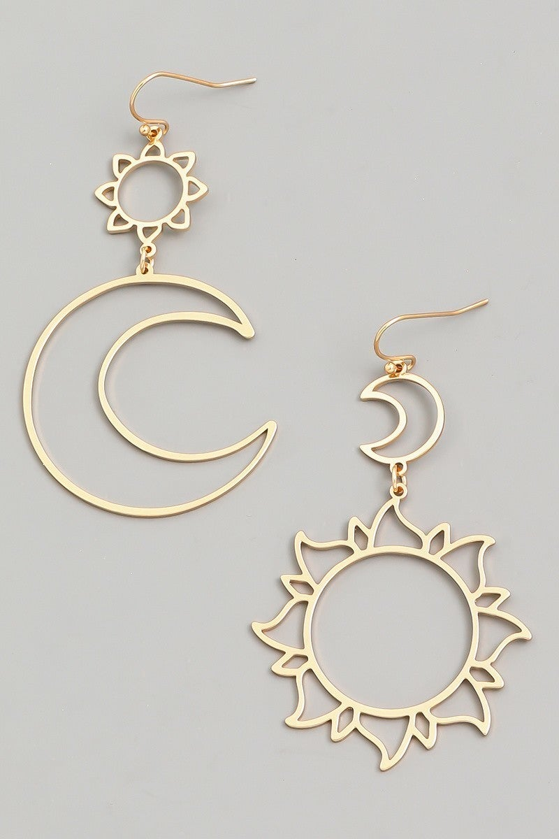 Sun and Moon earring