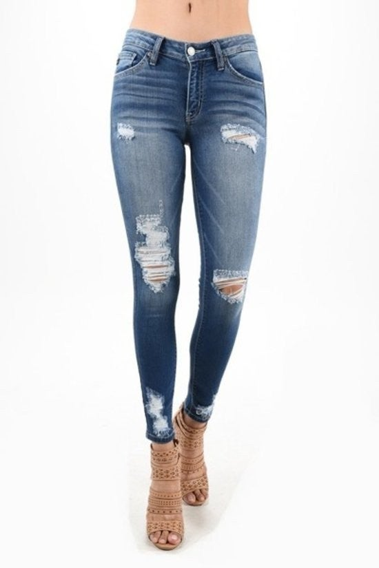 Destroyed Skinny Jean by KanCan *Final Sale*