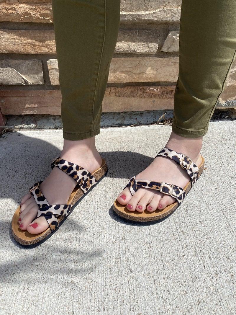 Chelsa Sandal in Leopard