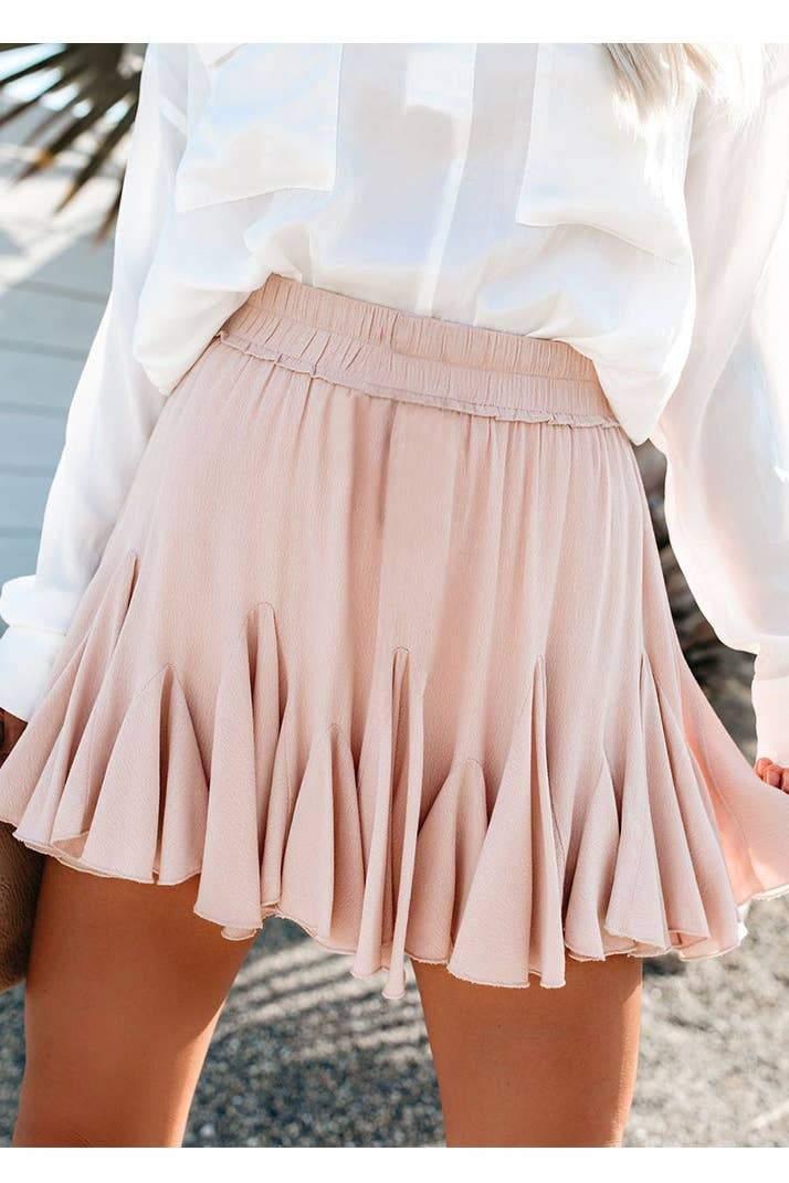High-Waisted Mini Pleated Skirt