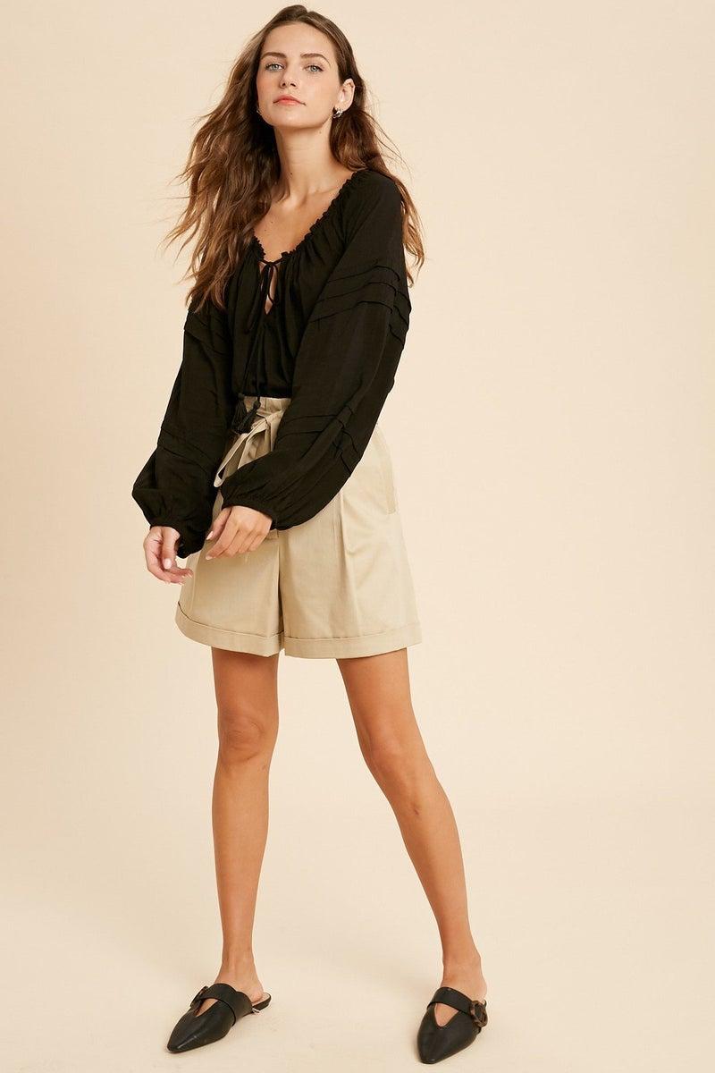 Lauren Loose Bodysuit in Black or Mint