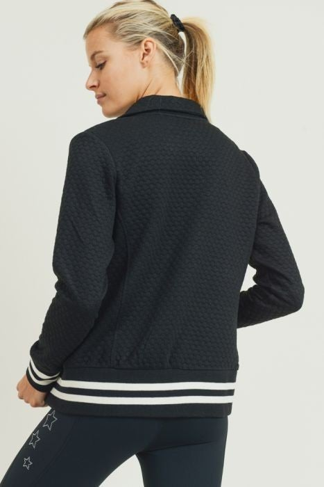 Quilted Varsity Jacket by Mono B