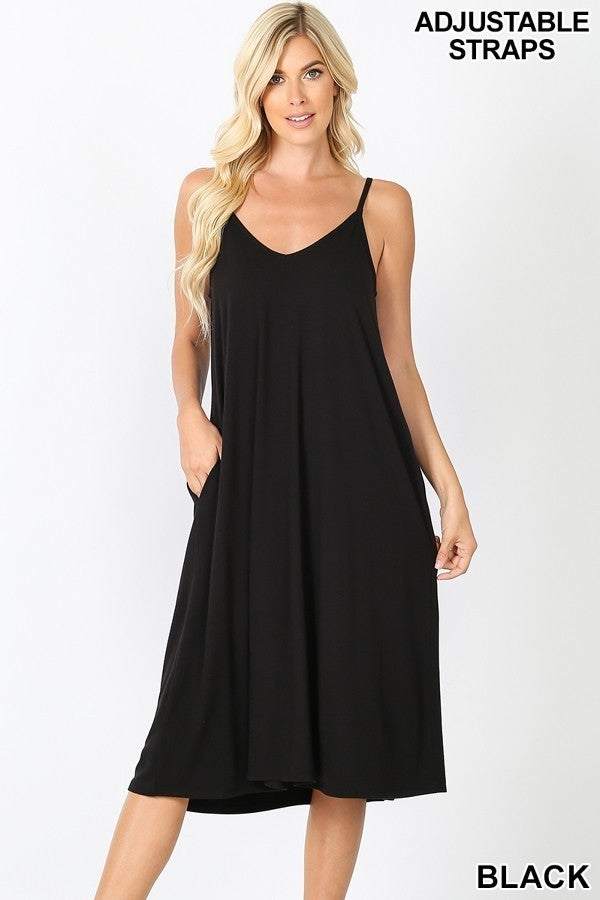 Simple Loose Black Dress (all sizes)
