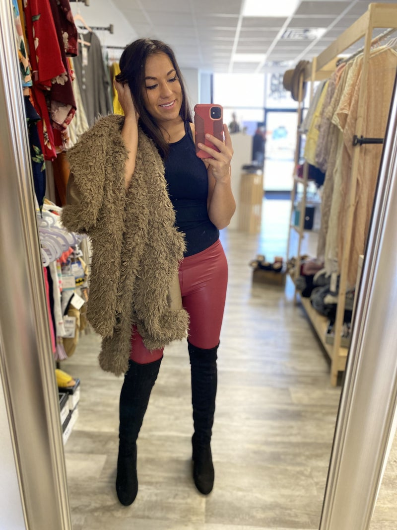 Faux Leather Legging all Sizes