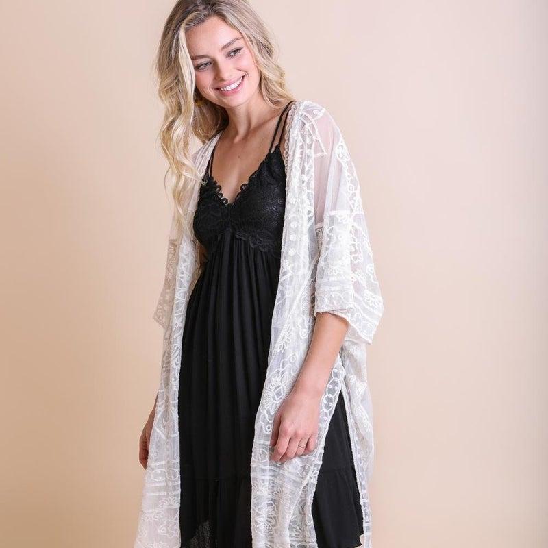 Lauren Mandala Ivory Kimono