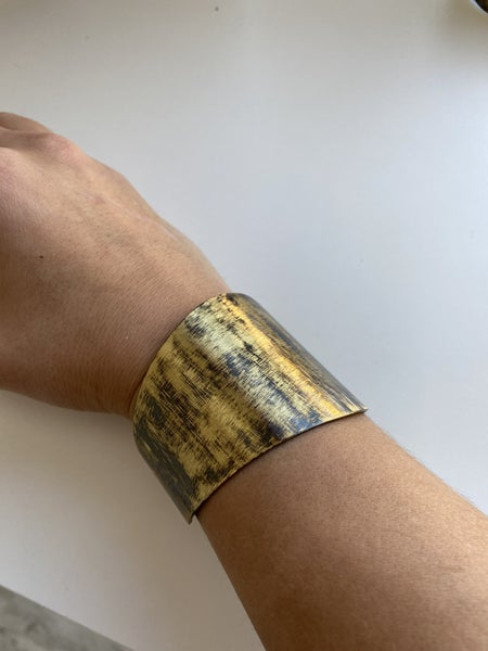 Antique Gold Cuff Bracelet by Panache