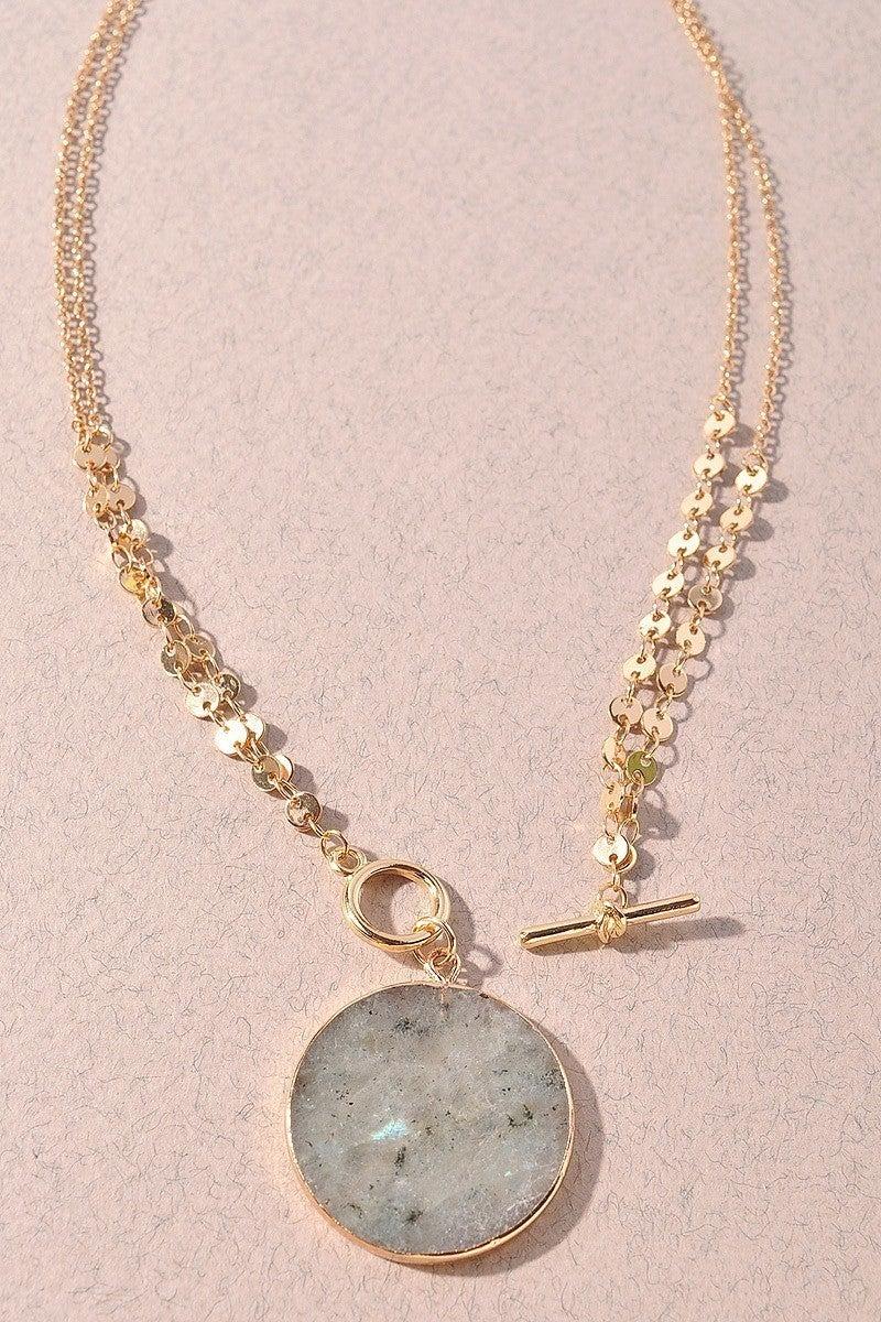 Boho Necklace in Grey