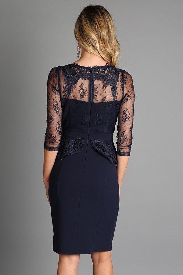 Black Cocktail Lace Dress *Final Sale*