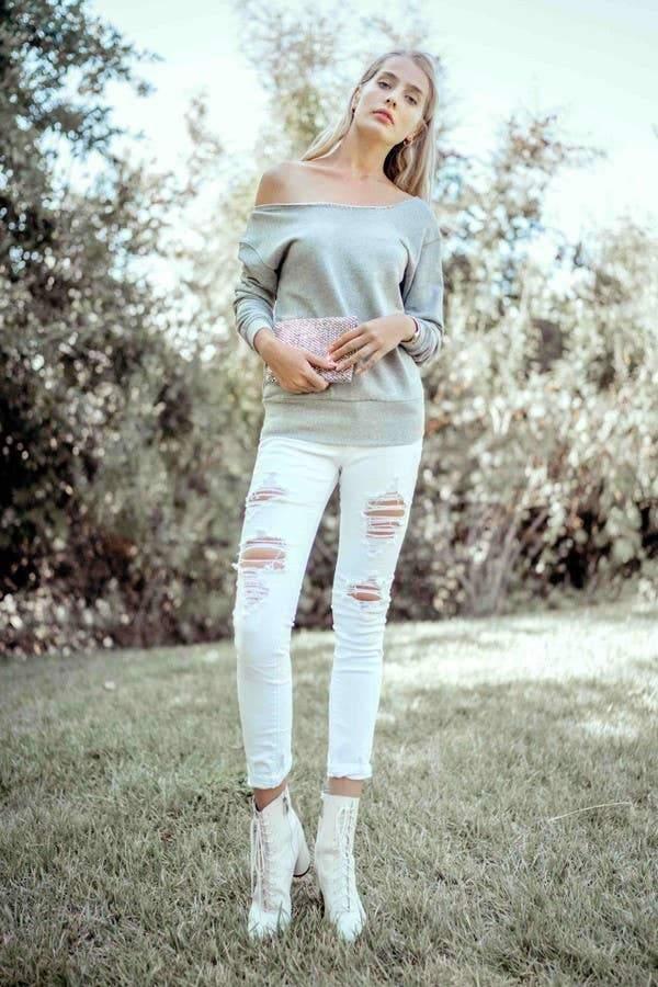 Perfectly Off Shoulder Sweatshirt