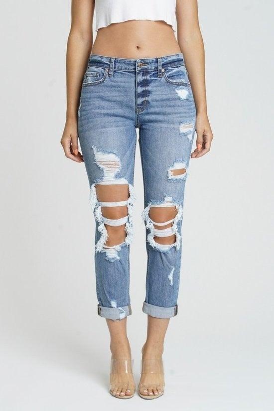 Frankie mid-rise girlfriend Jeans