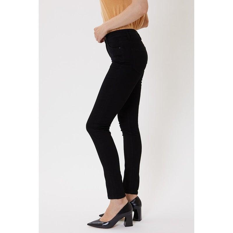 Black High Rise Skinny Jean by KanCan