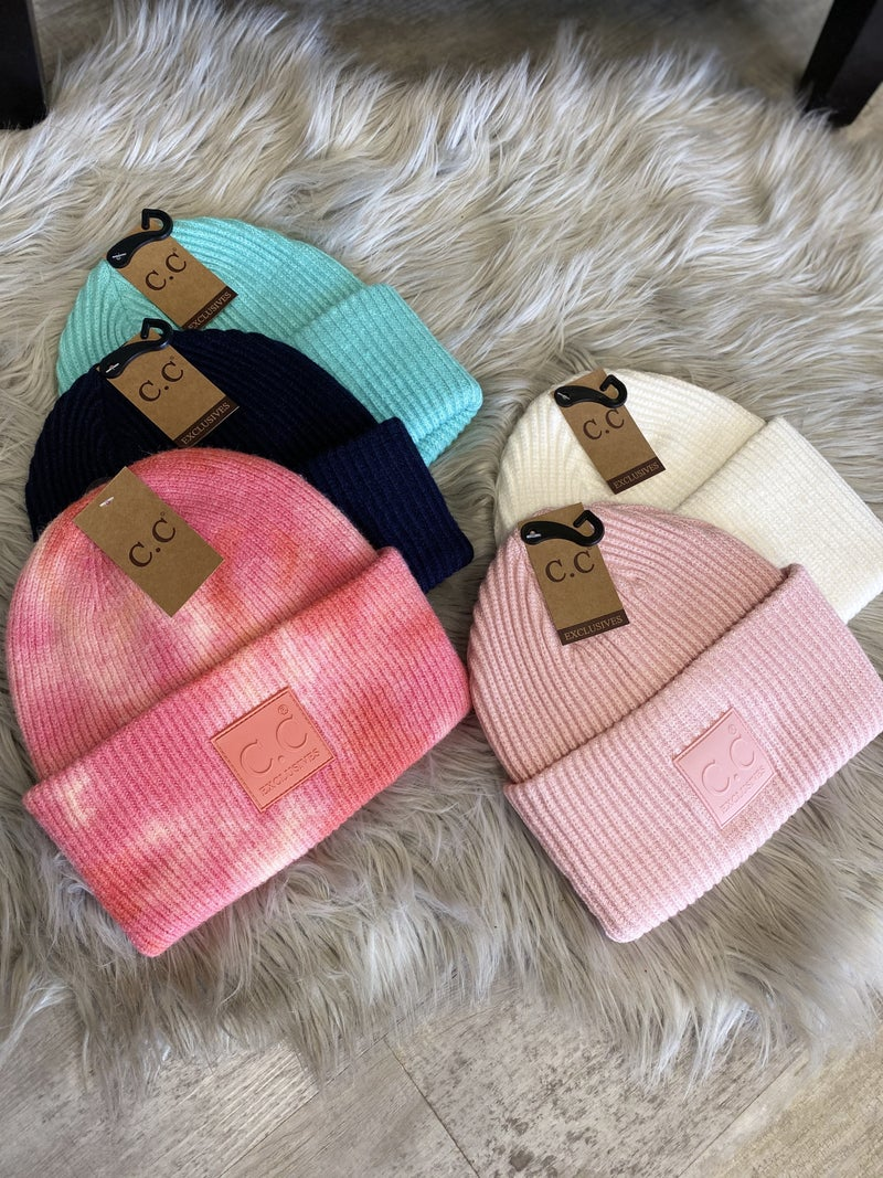 CC Solid Ribbed Knit Beanie(multiple colors)