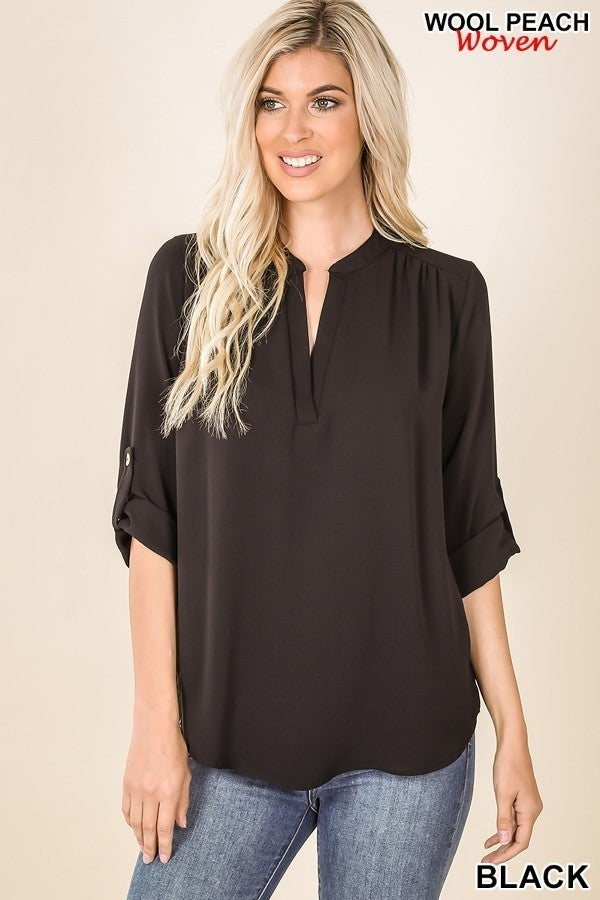 Megan Top in Black (all sizes)