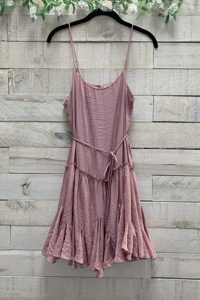 Ruffled Swing Cami Dress