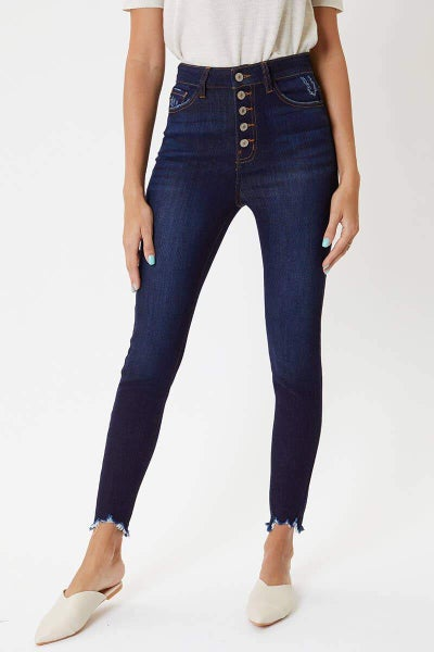 High Rise Button Fly Skinny by KanCan