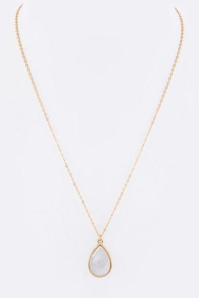 Teardrop Pendant Necklace
