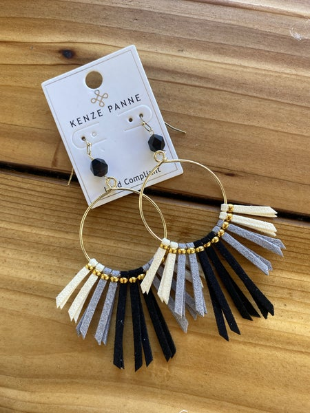 Brittany Leather Detail Earring