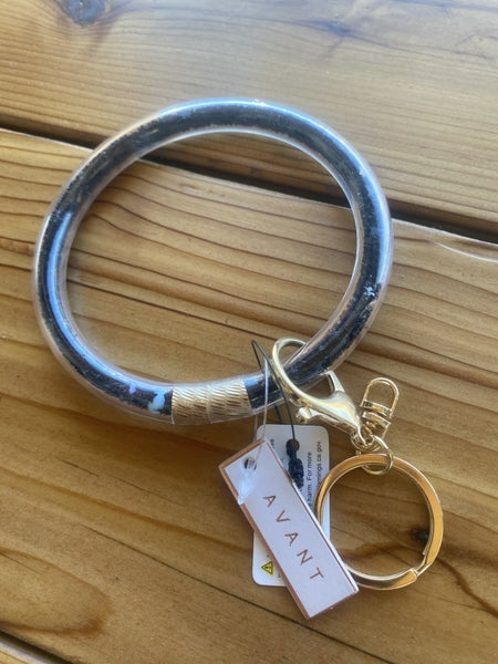 Black Large Keychain Ring