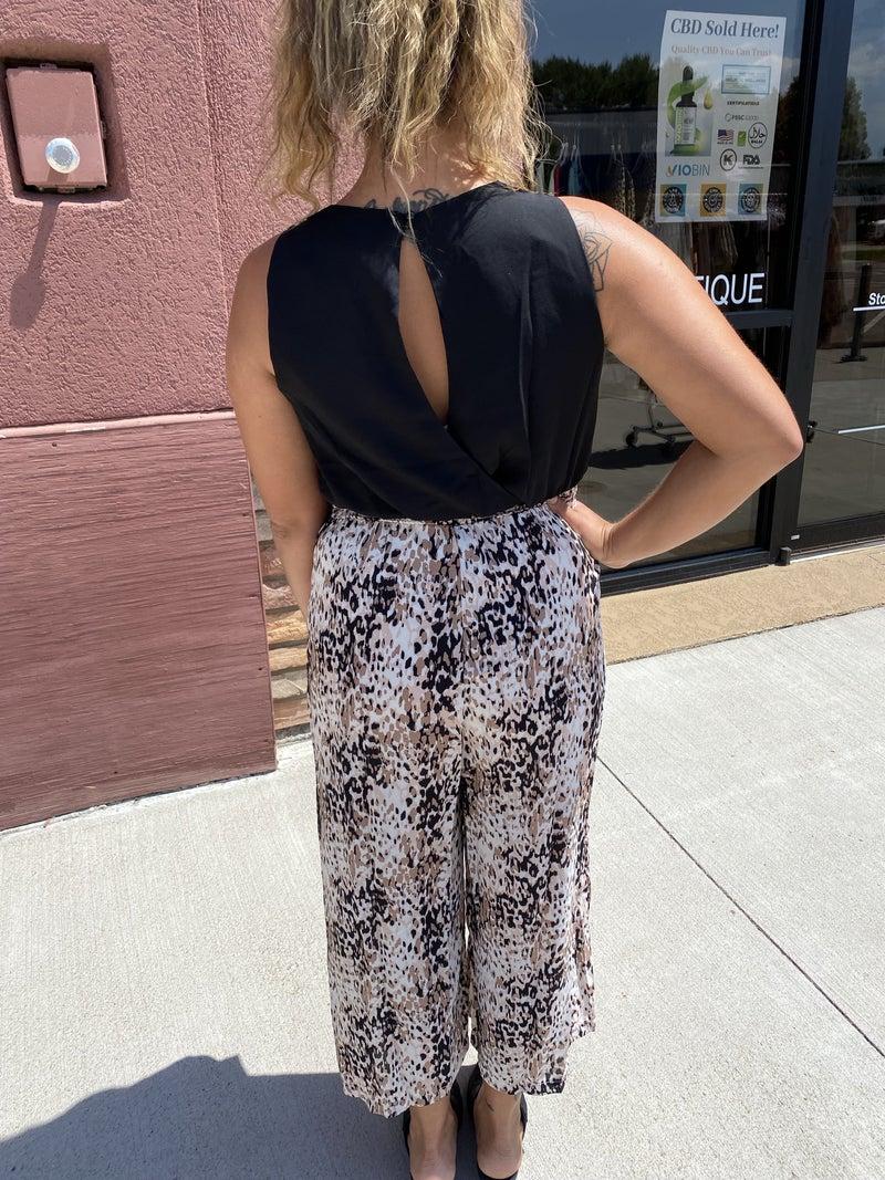Rhonda Cropped Jumpsuit (sizes 6-16)