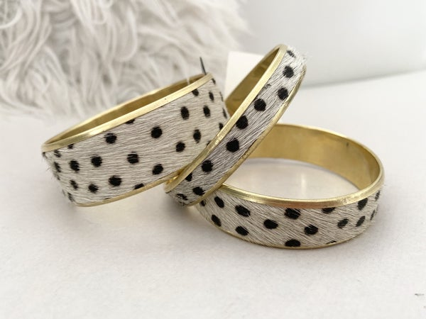 Dangle Braclet Set Cheetah by Panache