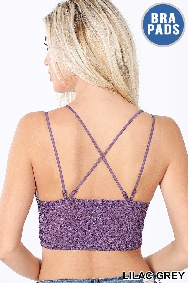 Double Strap Bralette (Lavender, Red,  Lilac, Sage, Mustard, Light Green, and Mocha)